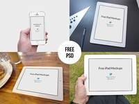 Free iPad & iPhone 5s Mockups - PSD