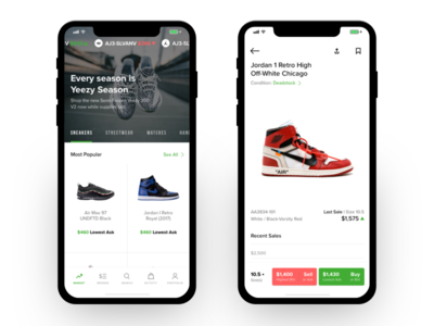 Homescreen & Product Profile about navigation jordan nike profile homescreen browse sneakers ux ui