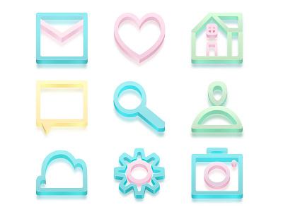 Icon set icon photoshop