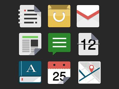 Flat Icon set illustrator icon flat
