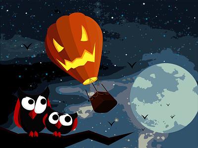 Halloween!  halloween illustrator orange