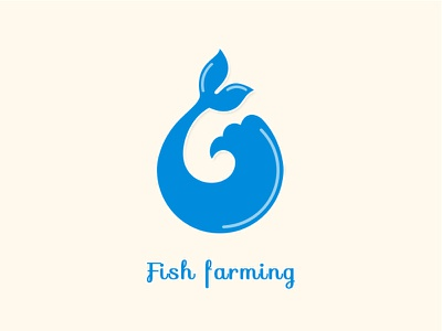 Fish Farming Logo photoshop logo blue fish farming