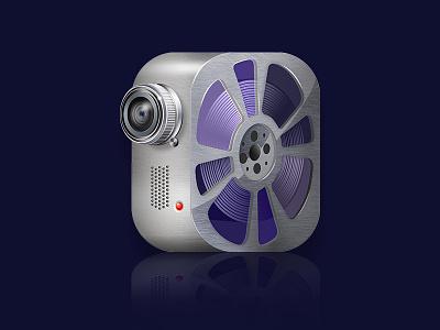 supervideo icon photoshop web icon blue camera video