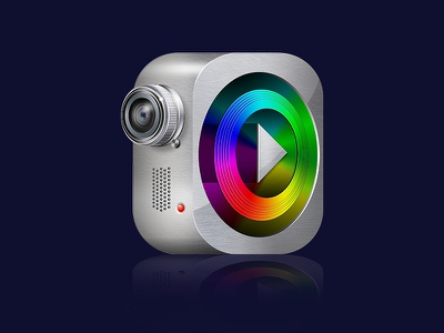 pixanimator icon photoshop web icon silver camera video