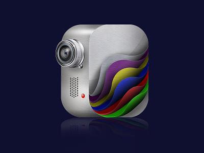 pixslider icon photoshop web icon silver camera video