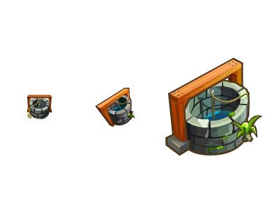 Wells Icon illustrator game wells