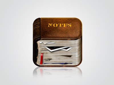 Notebook old iOS Icon notebook old icon ios book photoshop