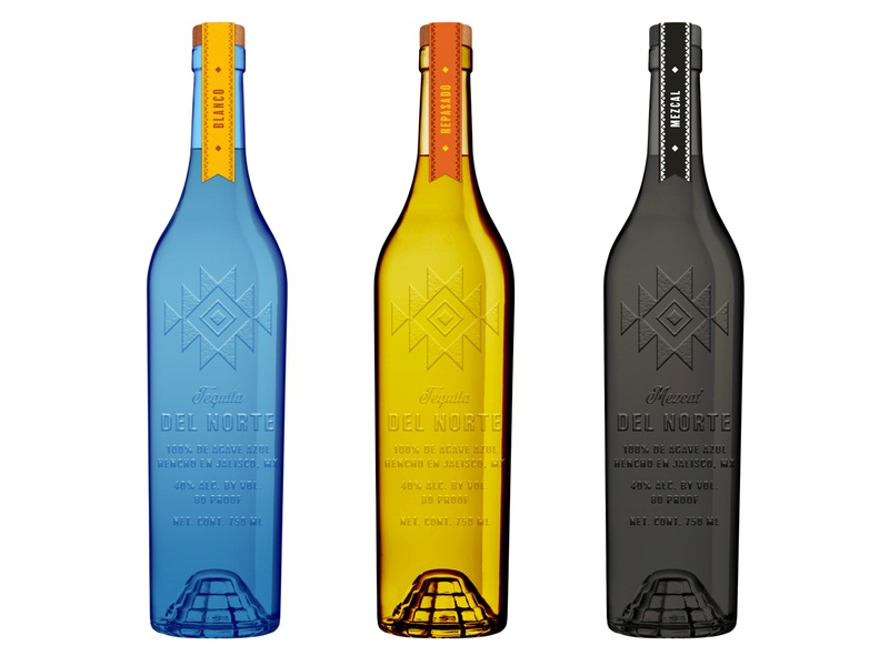 Tequila Del Norte Exploration product design spirits consumer goods alcohol packaging alcohol branding mezcal tequila packaging identity branding logo