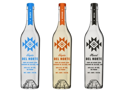 Del Norte Exploration Alt spirits alcohol packaging alcohol branding alcohol mezcal tequila packaging identity branding logo