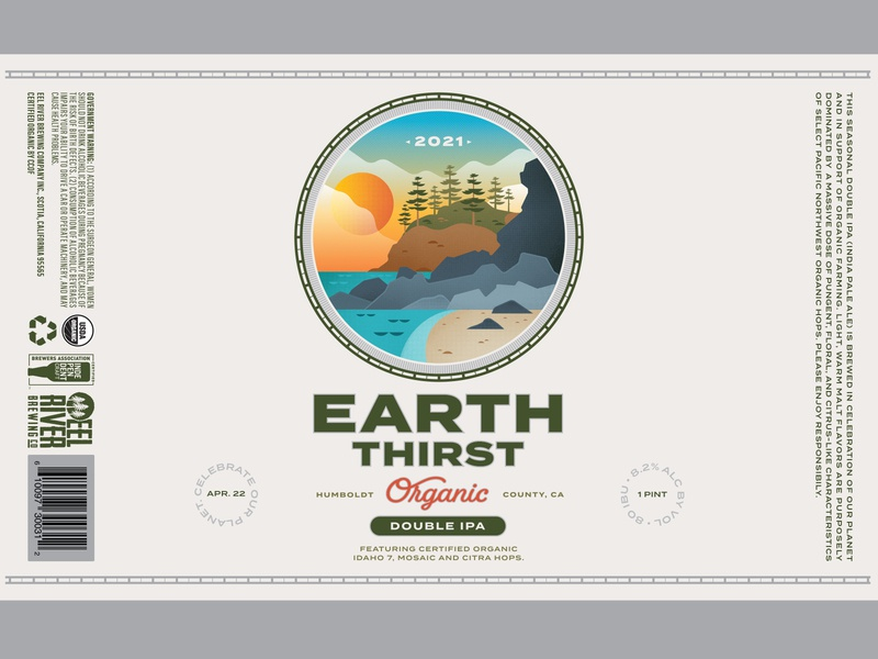 EarthThirst Final design outdoors packaging illustration beer