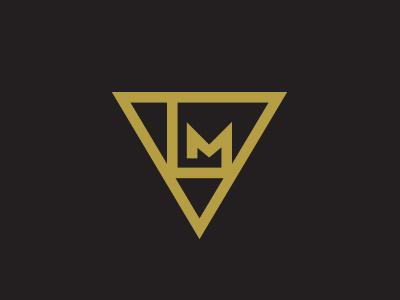 LM Monogram geometry monogram earth symbol triangle m l