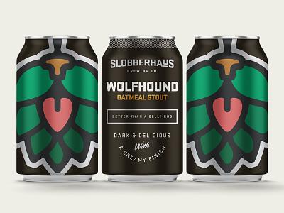 Slobberhaus Stout hopdog packaging branding beer can beer