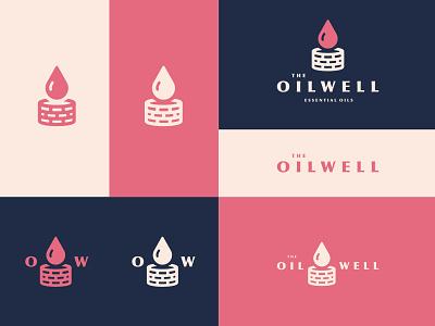 The Oil Well optima essential oil oil well well oil wordmark logo illustration branding essential oils