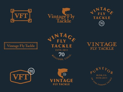 Vintage Fly Tackle Exploration outdoors brand reboot trout tackle fly vintage fly fishing illustration branding logo