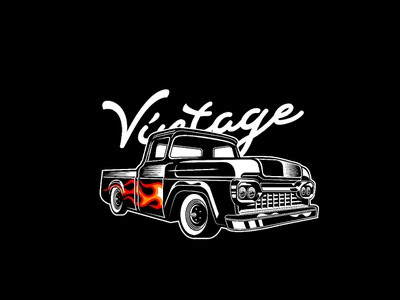 Vintage Truck Flammo custom ride classic hotrod flame vintage truck vintage