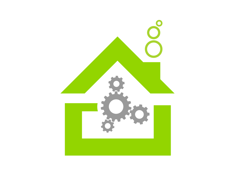 Home Automation Icon for Fluid Global Technologies corporate identity graphic design identity design brand design brand icon design icon home automation