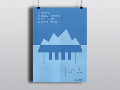 Poster Titanic poster brand branding design graphic cartas css flat code