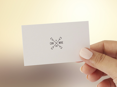 CAN&WIRE Business Card communication brand branding card bc business card graphic logo