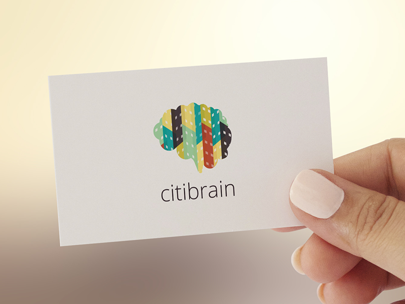 Citibrain Business Card brand branding logo logotipo logotype citibrain brain city