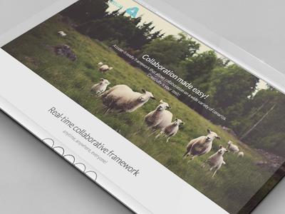 Coollab Website ui website web site design flat sheep coollab colaboration homepage landing page landing