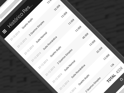 Plain list for Android app app clean flat ui mobile list typography simple layout