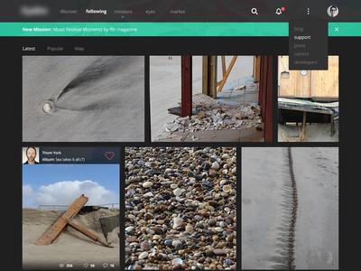 Photo Service (web version) flat photo photography web desktop
