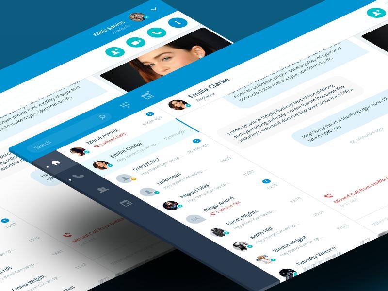 Chat App skype blue conversation web app chat