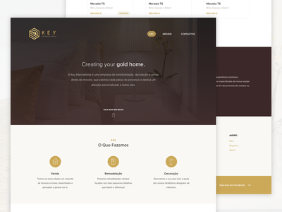 Key International Website home house real estate gold brown website
