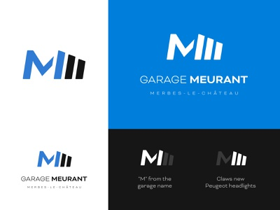 Logo Design - Garage Peugeot Meurant graphics logo logodesign blue car print icon typography vector illustration graphicdesign branding