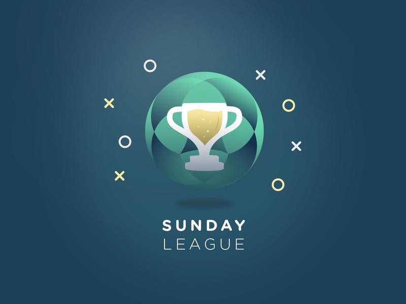 Sunday League - Logo branding visualidentity print design cup illustration sundayleague football logo graphicdesign