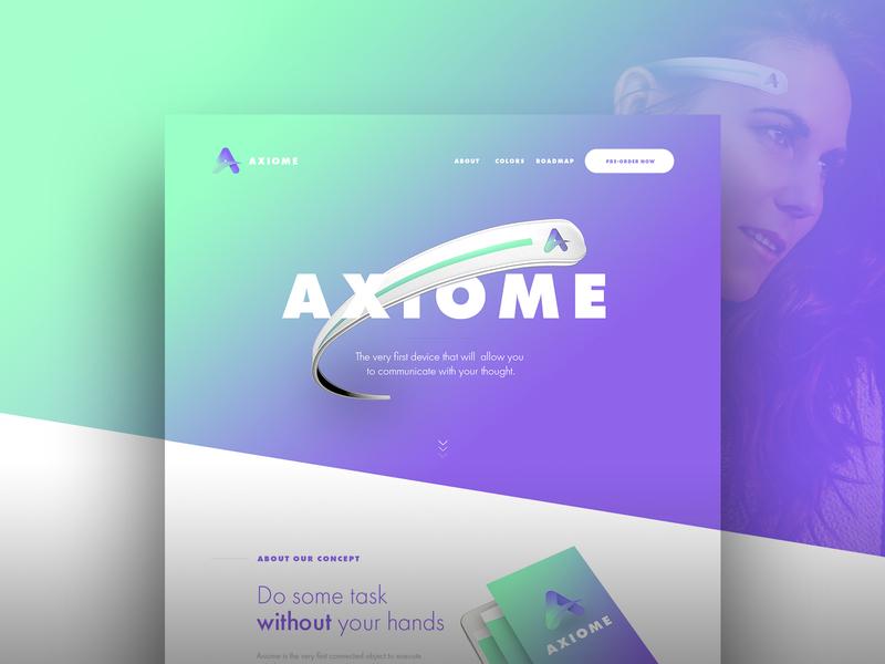 Axiome - Landing page branding website landing homepage design ux ui uidesign webdesign