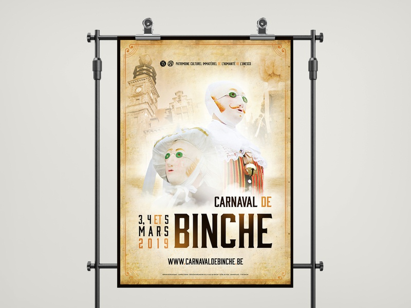 Carnival of Binche 2019 - Official poster photography poster art printdesigner affiche carnaval vintage carnival poster graphics posterdesign print graphicdesign
