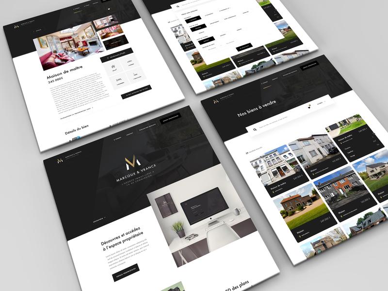 Marcoux & Vrancx - Webdesign uidesign landing landingpage graphicdesign logo branding webdesign ux ui