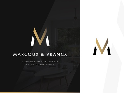 Marcoux & Vrancx - Logo white black luxury logodesign typography graphics logo print design branding graphicdesign