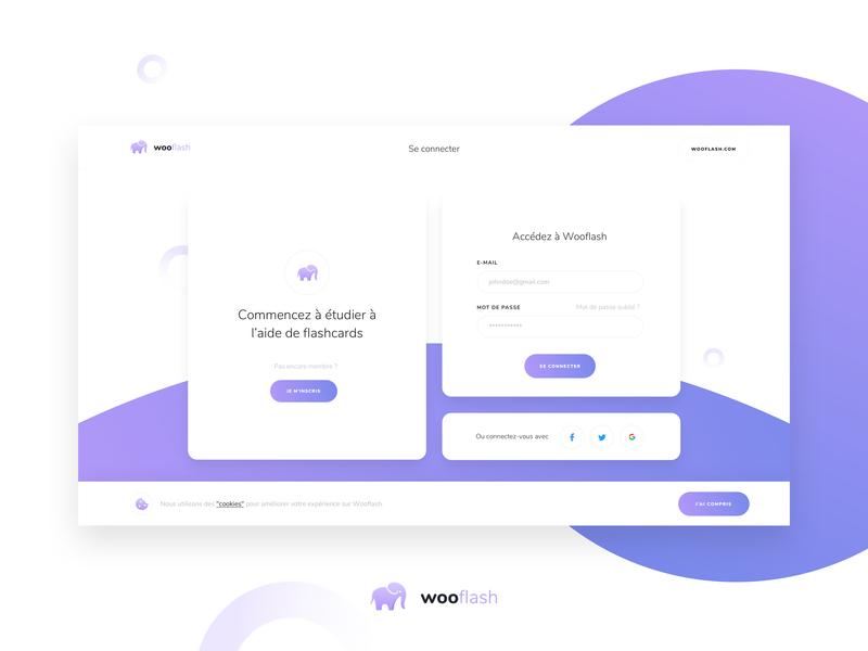 wooflash - Login page uidesigner webdesign graphicdesign branding ai purple connection form design form landing ui uidesign