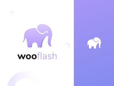 wooflash - logo print logodesign elephant ai purple illustration design graphicdesign graphics logo branding