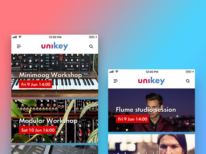 UNIKEY UI Shot by Mark van den Broek on Dribbble