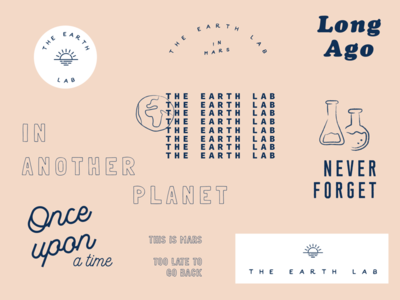 the Earth lab wip typography planet mark logo letters elements concept branding