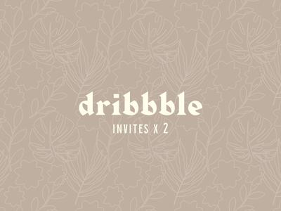 2 dribbble invites! giveaway invitation invite invites