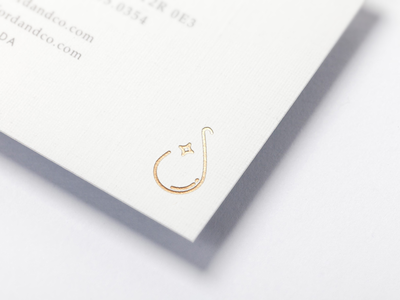 simply water mark gold foil logo branding