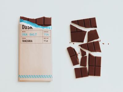 DUSK CHOCOLATE chocolate packaging