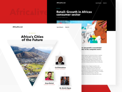 Africa live - website design