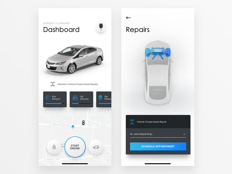Remote Car Starter App >> Car Remote Starter App By Jonathan Truong On Dribbble