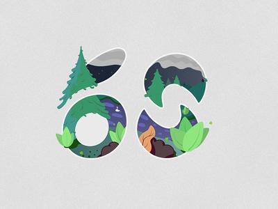 60 Followers 🙌🏻 type art illustration
