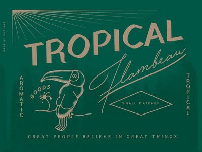 Candle Label - Tropical Wip tropical candle label packaging type