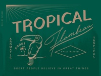 Candle Label - Tropical Wip