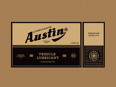 Austin - Packaging Concepts cars texas usa logo typography label packaging design