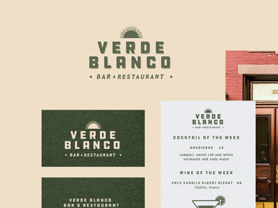 Verde Blanco Brand Identity logo ui type typography packaging design