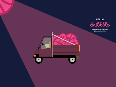 Hello Dribbble tricycle