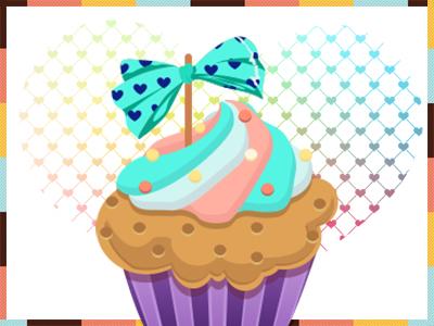 Dribbble cupcake